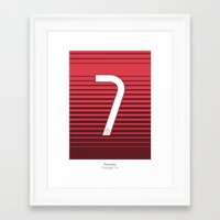 ronaldo Framed Art Prints featuring Ronaldo 7 by Squad Numbers