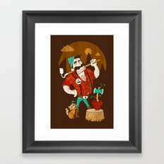Green Thumberjack Framed Art Print