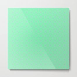 Mint Green Abstract VII Metal Print
