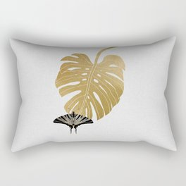 Butterfly & Monstera Rectangular Pillow