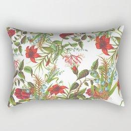 Ruby & Cerulean Floral Rectangular Pillow