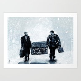 Planes,Trains & Automobiles Art Print