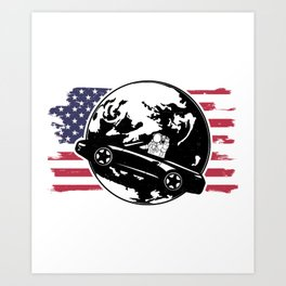America Wins the Space Race Art Print