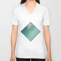 biology V-neck T-shirts featuring Fresh summer abstract background. Connecting dots, lens flare by AMULET