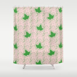 Ivies & Pearls Shower Curtain