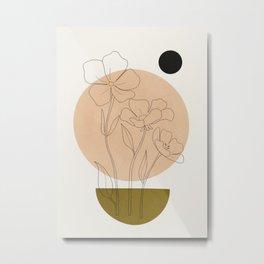 Minimalist Geometric Art IV Metal Print