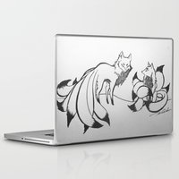 kitsune Laptop & iPad Skins featuring Kitsune by Katy Lawler