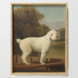 George Stubbs - White Poodle in a Punt Serving Tray
