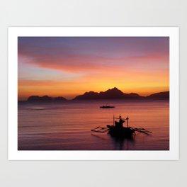 El Nido Sunset Art Print