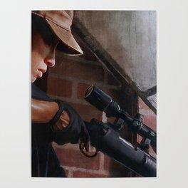 Rosita The Sniper - The Walking Dead Poster