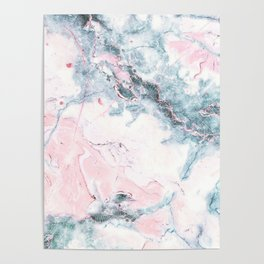 Blue and Pink Marble Poster