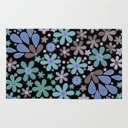 Retro. Floral motifs 3 Rug