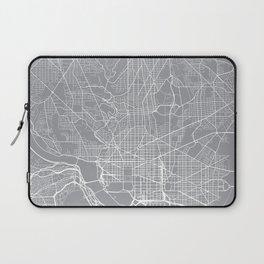 Washington Map, Dc USA - Pewter Laptop Sleeve