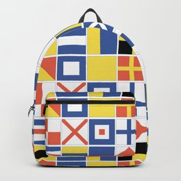 Nautical Flags Backpack
