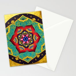 Connection with the universe / Mandala by Ilse Quezada Stationery Cards