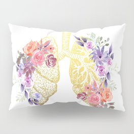 Floral Lungs Anatomy  Pillow Sham