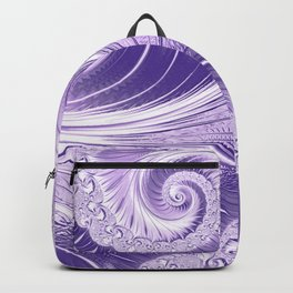 Ultra Violet Luxe Spiral Pattern | Trendy Color of the Year 2018 Backpack