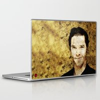 cumberbatch Laptop & iPad Skins featuring Portrait of Benedict Cumberbatch by André Joseph Martin