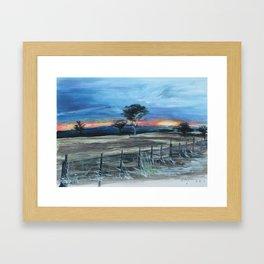 ASHLEY'S SUNSET Framed Art Print