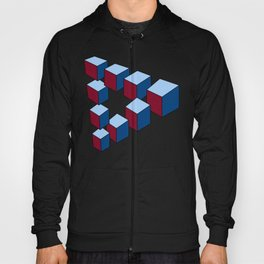Geometry - Optical Illusion - Cubes in perspective - 3D - 3 focal points Hoody