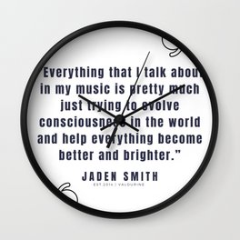 24  |  Jaden Smith Quotes | 190904 Wall Clock