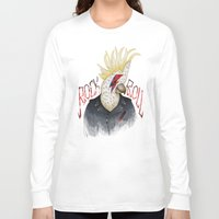 rock and roll Long Sleeve T-shirts featuring ROCK & ROLL BIRD!! by TOXIC RETRO