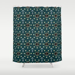 Anchors and Stars Shower Curtain