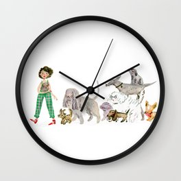 Doggy happiness Wall Clock