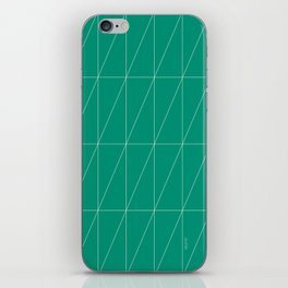Emerald Triangles by Friztin iPhone Skin