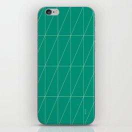 Emerald Triangles by Friztin iPhone Skin