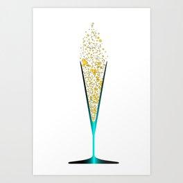V Shaped Champagne Glasses Art Print