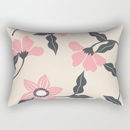 Vintage Floral Pattern Rectangular Pillow
