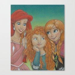 Redheaded Princesses Canvas Print