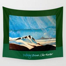 """Shining Down Like Water"" - Mount Taranaki Wall Tapestry"