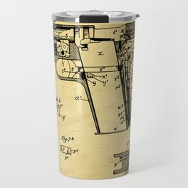 Browning Firearm Support Patent Drawing From 1911 Travel Mug