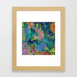 Messy Art I - Abstract, paint splatter painting, random, chaotic and messy artwork Framed Art Print