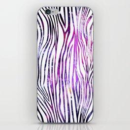 galaxy zebra iPhone Skin