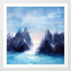 Over The Mountains III Art Print