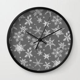 Snow Flakes 08 Wall Clock