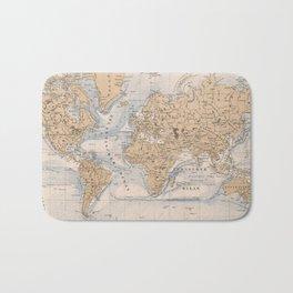 Vintage Map of The World (1884) Bath Mat