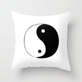 Yin and Yang BW Throw Pillow