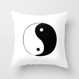 Yin and Yang BW Throw Pillow