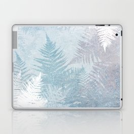 Fern Snowflakes - Taupe, Aqua & Blues Laptop & iPad Skin