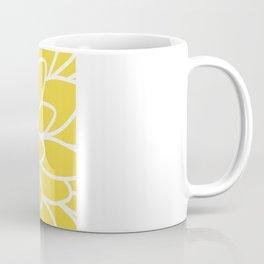 Modern Yellow Dahlia Flower Coffee Mug