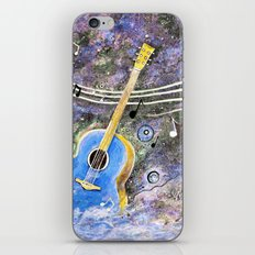 Space Guitar Acoustic iPhone & iPod Skin