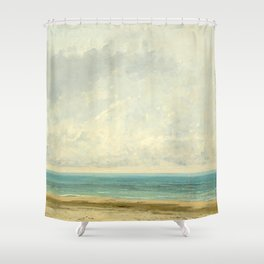 Calm Sea Oil Painting by Gustave Courbet Shower Curtain