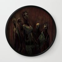 zombies Wall Clocks featuring Zombies! by Adam Howie