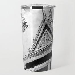 Killing Fields Stupa in Black & White, Cambodia Travel Mug