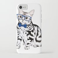 kitty iPhone & iPod Cases featuring Kitty by 13 Styx
