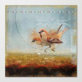 Kathmandu Cinnamon Sparrows Canvas Print
